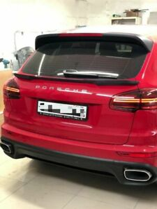 Trunk Spoiler Middle Wing Lip for Porsche Cayenne 2010-2017