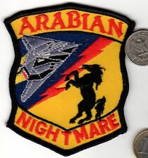 US Air Force Stealth Bomber Squadron Patch ARABIAN NIGHTMARE Fighter Jet