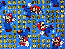 NINTENDO FABRIC SUPER MARIO & COIN TOSS SPRING CREATIVE GAME 100% COTTON YARDAGE