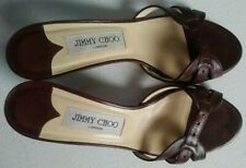 USED, JIMMY CHOO, LONDON,REAL LEATHER, MADE IN ITALY, BROWN SHOES, UK 5 / EU 38.