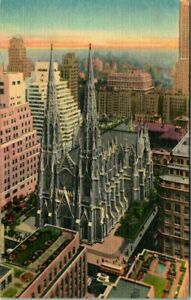 C51-7229, ST. PATRICK'S CATHEDRAL, NEW YORK. Post Card.
