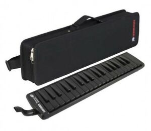 HOHNER Melodica Superforce 37 Black Mouthpiece Case From Japan with Tracking