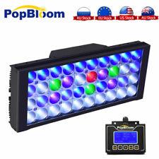 PopBloom LED Aquarium Beleuchtung Vollspektrum Lampe für Reef Coral Fisch Tank