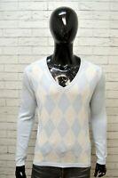 Maglione Uomo TOMMY HILFIGER Taglia M Felpa Pullover Cardigan Sweater Cotone