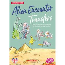 Scribble Down Transfers Activity Pack Kids Stickers - Alien Encounters