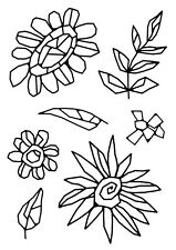 Woodware Clear Singles Stamp - Mosaic Flower FRS636
