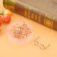 10x Funny Metal Eyeglass Shape Paper Clip Card Book Clip File School Supplies