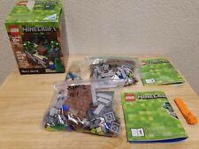 LEGO set 21102 : Minecraft Micro World -> Complete in Box ( CIB ) + Extra Parts