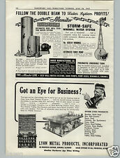 1941 PAPER AD Baker Storm Safe Windmill Water System