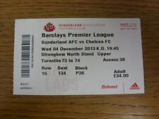04/12/2013 Ticket: Sunderland v Chelsea  . If this item has any faults they shou