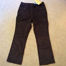 ** NEW* Women's DENIM & CO. Dark Gray Stretch Corduroy Pants Sz 14 ( 33 X 30 )