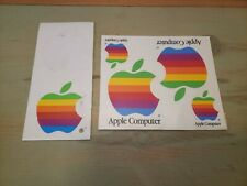 Vintage Apple Computers Rainbow Stickers Lot of 5 Individual in 3 sizes