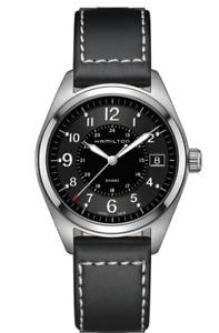 New Hamilton Khaki Field Black Dial Leather Band Men's Watch H68551733