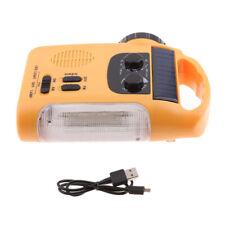 Emergenza manovella solare AM FM Radio, torcia elettrica, caricabatterie