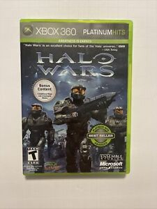 Halo Wars XBOX 360 Complete Game Disk Case Manual Platinum Hits