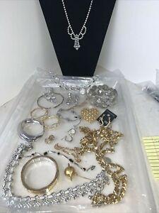 VTG Luxury Rhinestone Trifari Judy Lee Lucien Piccard earrings bracelet necklace