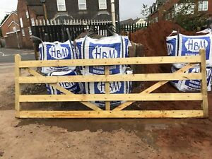 3ft Up to 12 ft Wide Farm / Field Gate Tanalised  Pressure Treated 4ft High