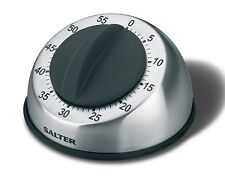 Salter Kitchen Timer 60 Minute Mechanical Wind Up Timer + Loud Ring 338 SSBKXR15