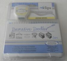 Sizzix eclips Cartridge Decorative Doodles Vintage Baking 658085 Factory Sealed