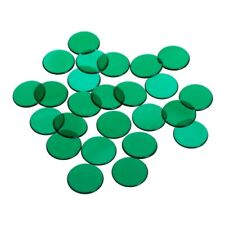 Game Chips - 22 MM - Green - Transparent