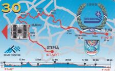 ESTONIA ,,CHIP PHONECARD USED, SPORT//SKIING,MAP//