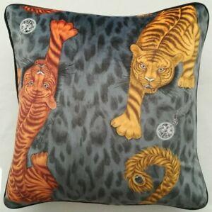 Emma J Shipley TIGRIS FLAME VELVET cushion cover 41cm x 41cm