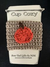 Coffee Cup Cozy-Handmade Crochet Coffee Go Cup Mug Cozy Sleeve Pumpkin/Spice/col