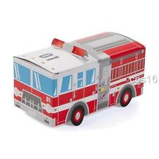 12 x Fire Engine Truck Treat Boxes...Childrens Fire Fighter Party Decorations