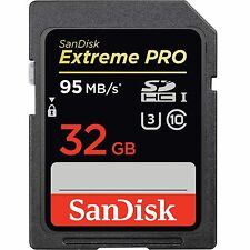 SanDisk 32GB 633x Extreme Pro UHS-I SDHC U3 Class 10 95MB/s 4K Ultra Memory Card