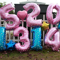 Useful Large Number 0 to 9 Foil Giant Birthday Wedding Party Balloon Decor LJ