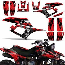 Decal Graphic Kit Yamaha Warrior350 ATV Quad Decal YFM350X Wrap 87-04 REAP RED