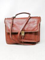 VINTAGE Briefcases Valigetta Marrone Da Ufficio In Pelle Leather Man Uomo
