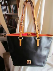 Dooney & Bourke Smooth Leather Shoulder Bag - BLACK HANDBAG Brianna
