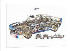 BMW 3.0 CSL RAGGI X - 30x20 Inch canvas-quadro incorniciato stampa
