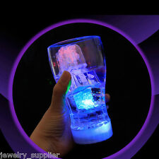 Change Color Flash LED Ice Cube Shape Liquid Sensor Light for Party Wedding Bar