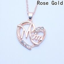 Heart-shaped Necklace with Big Crystal Help telling Mom the Love Women and Men