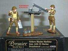 BRITAINS 41026 VICKERS MAXIM MACHINE GUN + US DETACHMENT METAL TOY SOLDIER SET