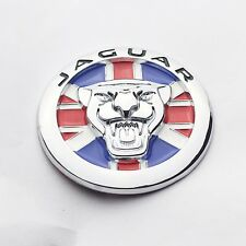 New UK Flag 70mm Growler Front Grille Emblem Badge Roundel for Jaguar XJ XJL
