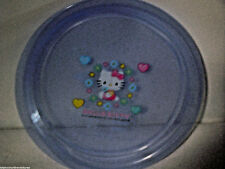 """Plate Hello Kitty and Friends Kids Sanrio 7""""  Blue Hearts Flower Animals"""