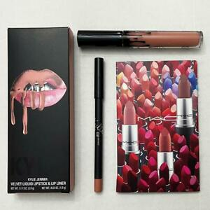 Kylie Jenner Bare Velvet Liquid Lipstick Lip Kit & MAC Lipstick