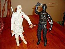 New listing 2008 G.I. Joe Lot (2) Snake Eyes & Storm Shadow 12 Inch Figures