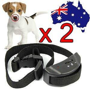 2020 2 X AUTOMATIC ANTI BARK COLLAR STOP BARKING DOG TRAINING COLLAR