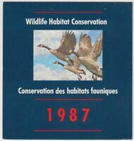 Van Dam FWH3: $6.50 Canada Geese - 1987 Wildlife Habitat Conservation book of 1