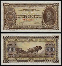More details for yugoslavia 500 dinara (p66a) 1946 unc