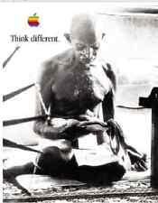 "Rare Mahatma Gandhi 24""X36"" Apple Think Different Poster"