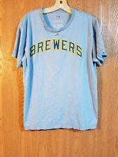 Paul Molitor #4 Milwaukee Brewers Majestic T Shirt Adult L