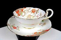 "AB JONES & SONS GRAFTON CHINA #5421 ART DECO STYLE 1 7/8"" CUP & SAUCER SET 1930-"