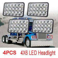 4pcs LED Headlights 4x6 For Kenworth T800 T400 T600 W900B W900L Classic120/132