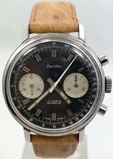 Zentra Reverse Panda Dial Manual Wind Chronograph Valjoux 7733