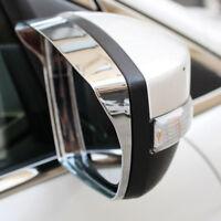 For Ford Kuga Ecosport 2013-2016 Chrome Side Mirror Cover Rain Guard Visor Trim
